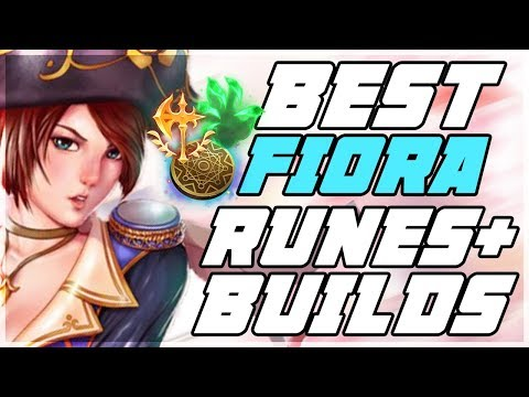 New Best Runes Builds For Fiora Patch 9 6 Best Fiora S Na League Of Legends Youtube