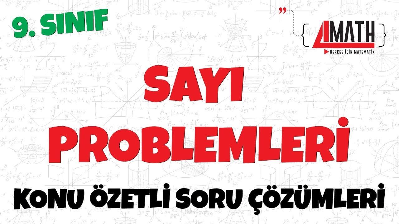 Sayı Problemleri - Konu Özetli Soru Çözümleri