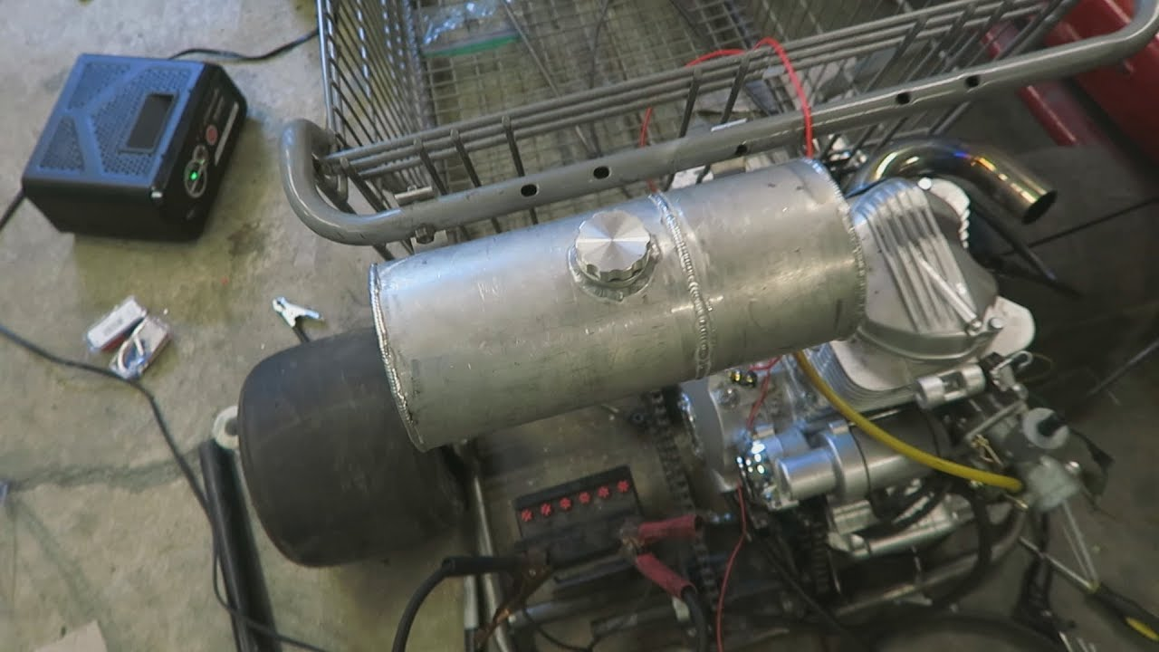Shopping Go Kart Build    Gas Tank And Wiring