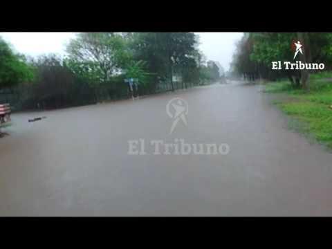 Río del Valle quedó bajo el agua luego de las intensas lluvias en la zona de Las Lajitas