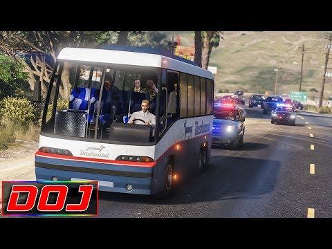 GTA 5 Roleplay - DOJ #25 - Bus Full of Hostages (Criminal)