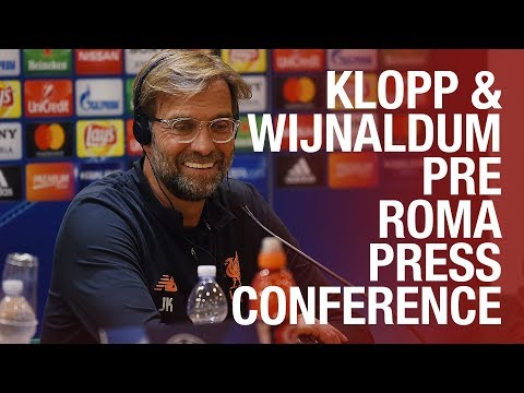 Klopp & Wijnaldum's Champions League semi-final press conference | Roma v Liverpool