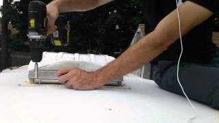 install a new replacement rv roof vent fan part 1 instructional