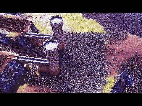 Ultimate EPIC BATTLE SIMULATOR - 20,000 VS 5,000 Castle Siege   UEBS Gameplay