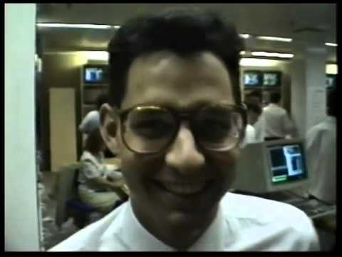 Last day of Trading Floor Sydney Stock Exchange 1990