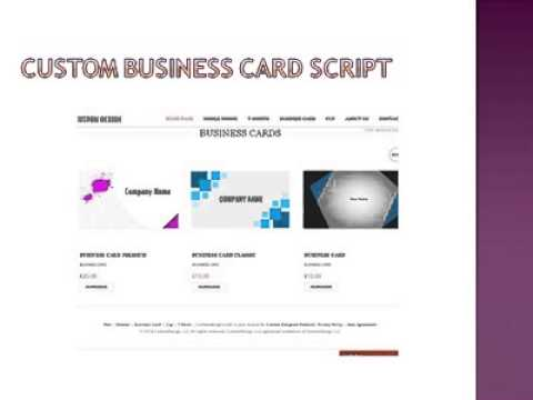 Custom business card script youtube reheart Gallery