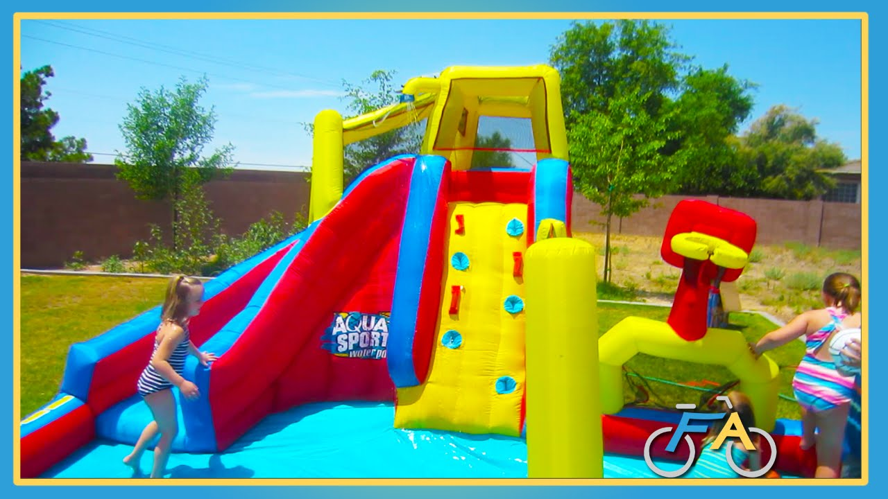 Backyard Waterslide fun backyard waterslide - youtube