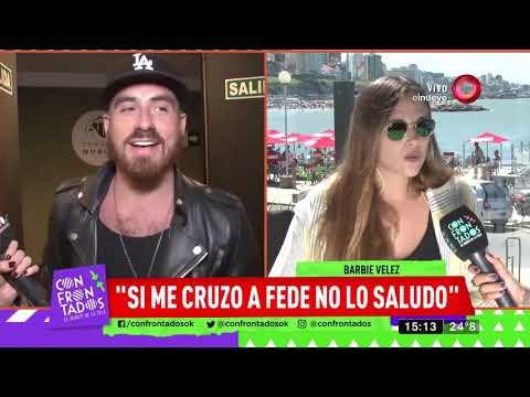 Barbie Vélez: 'Si me cruzo a Fede no lo saludo'