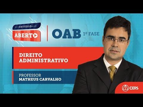 Aula Gratuita Sobre Os Princípios Da Administração Pública, Com Matheus Carvalho