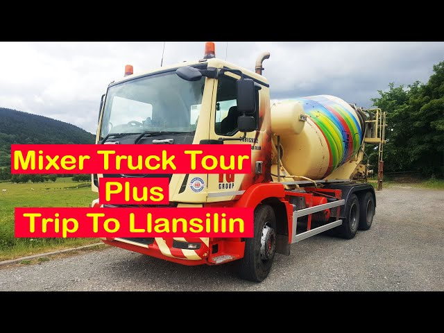Concrete mixer truck tour and trip to Llansilin Wales