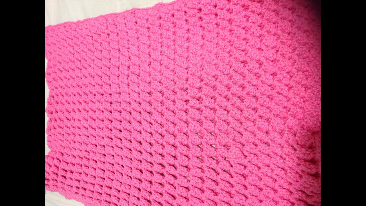 cobija para bebé. Crochet, tejido muy fácil! - YouTube
