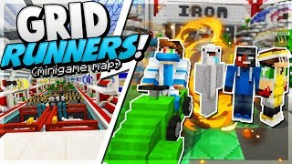 CRAZIEST MCPE MAP! (GRID RUNNERS) - Minecraft PE (Pocket Edition)
