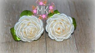як зробити маленьку троянду зі стрічки