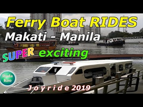 Pasig River FERRY BOAT! Ang bilis pala! Watch 'til end! Tour vlog 2019, Philippines