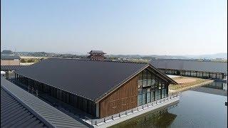 『空撮 』ドローンで見る美しい屋根 【奈良平城宮跡歴史公園 朱雀門ひろば】