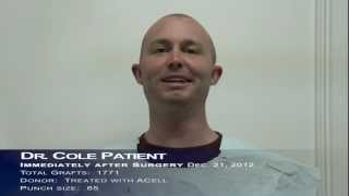 Dr. Cole - Patient Post Surgery Video Testimonial - Jan 2013