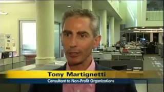 Tony Martignetti on NY1's Consumer Watch with reporter Asa Aarons
