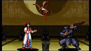 Samurai Shodown III: Nakoruru playthrough / lvl-8 【60fps】