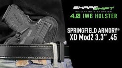 Springfield XD Mod 2 45 Subcompact IWB Holster For Concealed Carry - Alien Gear Holsters