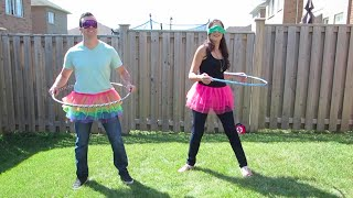 hula hoop challenge with eh bee family