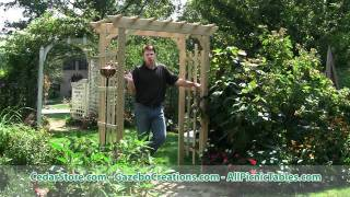 Treated Pine Rose Arbor Pergola From Cedarstore.com