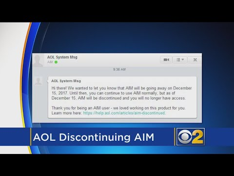 Farewell To AOL Instant Messenger