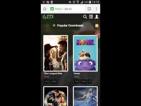 Descarga películas de torrents subtituladas a tu teléfono celular android