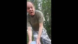 """Прикол!)) Пьяный по прозвищу """"Беня Крик"""" и его товарищ))"""