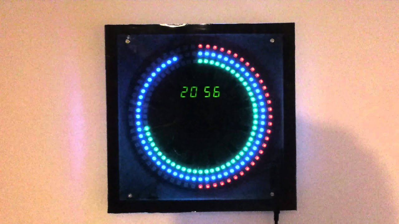 180rgb Led Diy Arduino Clock Youtube