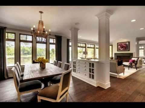 Living room dining room half wall ideas youtube - Family room wall ideas ...