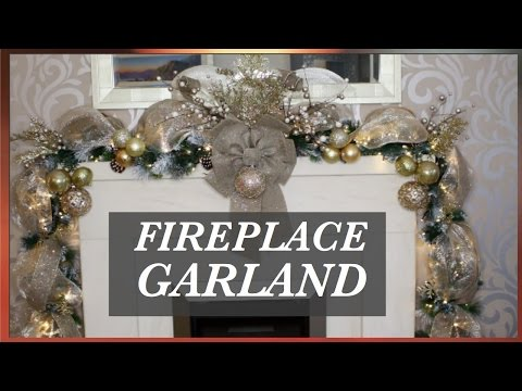 How To Decorate A Christmas Garland With Deco Mesh| CHRISTMASDECOR IDEAS 2016