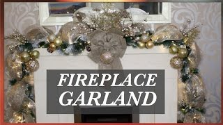 How To Decorate A Christmas Garland With Deco Mesh| CHRISTMAS  DECOR IDEAS 2016