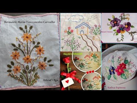 Aprende a bordar con ArtesdOlga: Proyectos de bordado 1-3