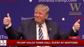 FULL Event: Donald Trump Town Hall at Wofford College (11-20-15)