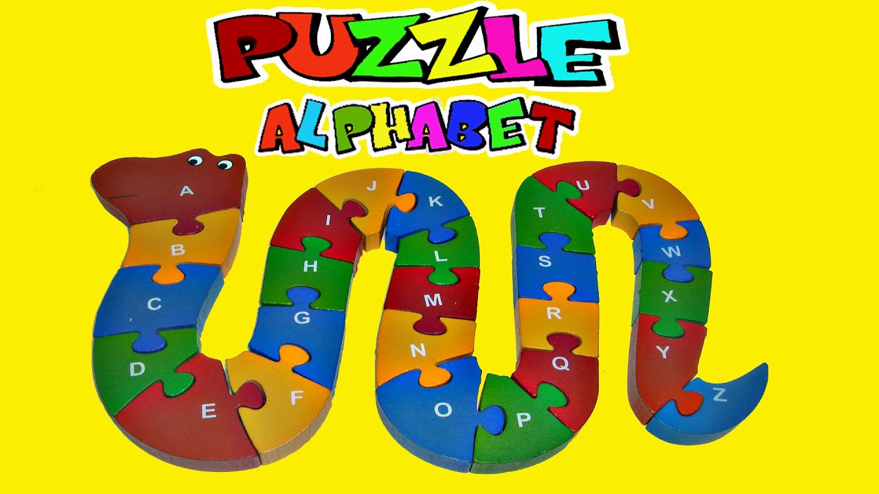 Learning ALPHABET with Children WOODEN PUZZLE WOODEN PUZZLE