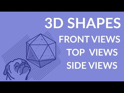 ʕ•ᴥ•ʔ How to identify the front, top and side views of 3-dimensional shapes