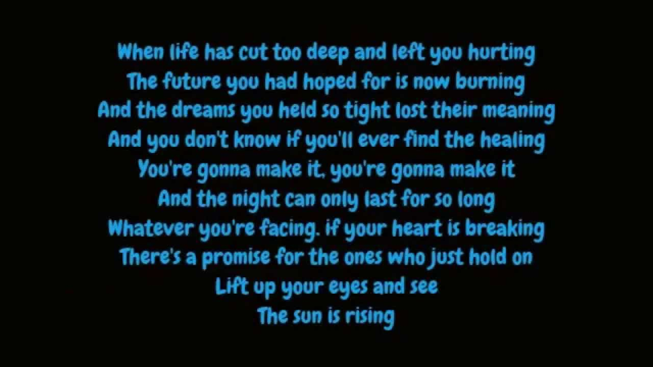 Britt Nicole The Sun Is Rising Lyrics Hd Youtube