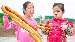 Nói Dối Bán Bánh Mỳ Kẹp Xúc Xích ❤ Dạy Cô Bé Tính Trung Thực - Trang Vlog