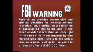CBS-FOX Video - FBI Warning (inter-cutting)