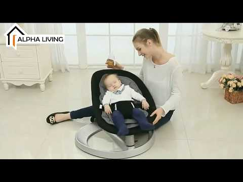 Alpha Living Baby Cradle Swing Leaf Shape Baby Rocking Chair (BAY0141)
