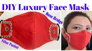 166 How To Make The Most Beautiful Holidays Face Mask With Filter Pocket Nose Bridge Tree Hack