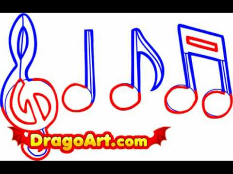 How To Draw Music Notes Step By Step Youtube