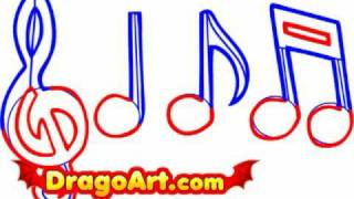 How to draw music notes, step by step