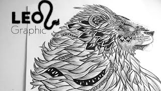 Speed drawing- Graphic Lion (Leo)