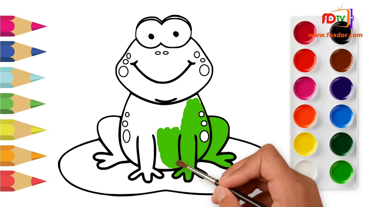 Drawing for kids - F for Frog  Kids Learning & Nursery ...