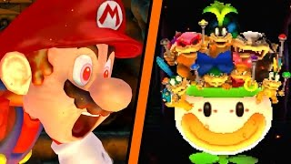 New Super Bowser Wii - All Castle Levels (Worlds 1-8)