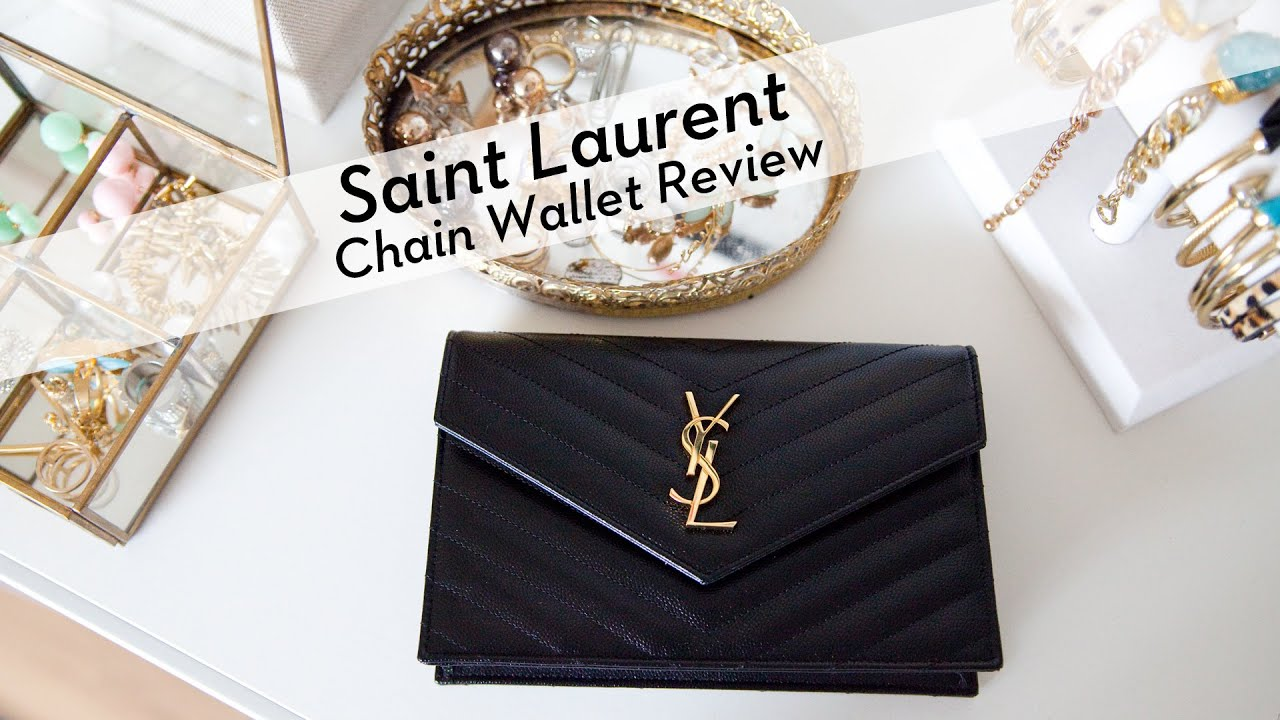 ysl patent clutch - Saint Laurent Chain Wallet Review - YouTube