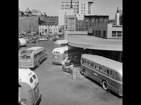 Cincinnati, Ohio Greyhound Bus Station Scenes 1943