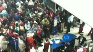 Nigerians Went Crazy at the British Aiways Terminal in Lagos part 1