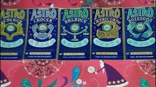 Tickets de grattage Astro Gémeaux, Cancer, Balance, Capricorne et Poissons  (Total 10€) Illiko FDJ